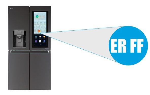 LG refrigerator error code ER FF