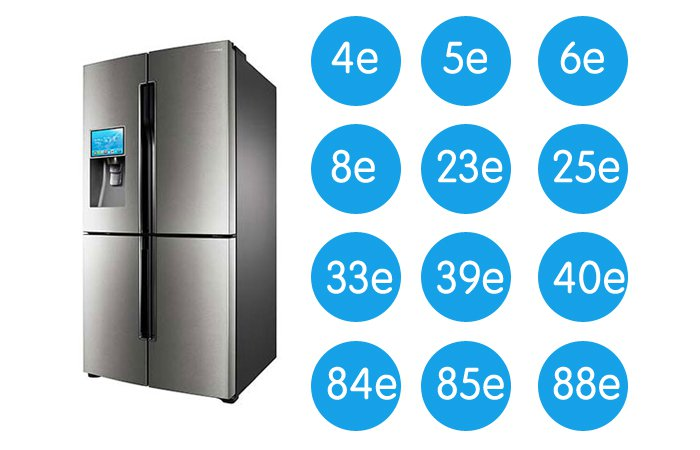 Samsung refrigerator all error codes