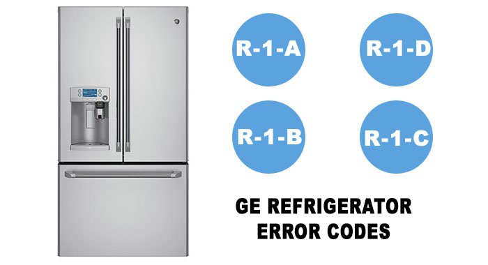 GE refrigerator all error codes list