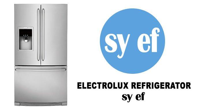 Electrolux refrigerator error code sy ef