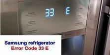 Samsung refrigerator error code 33 E s