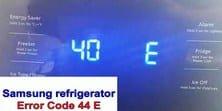 Samsung refrigerator error code 40 e s