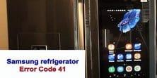 Samsung refrigerator error code 41