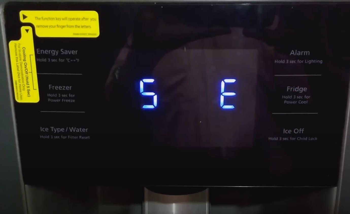Samsung refrigerator error code 5 e