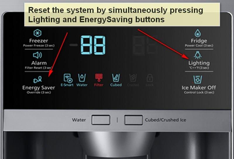 Samsung refrigerator error code 88 reset