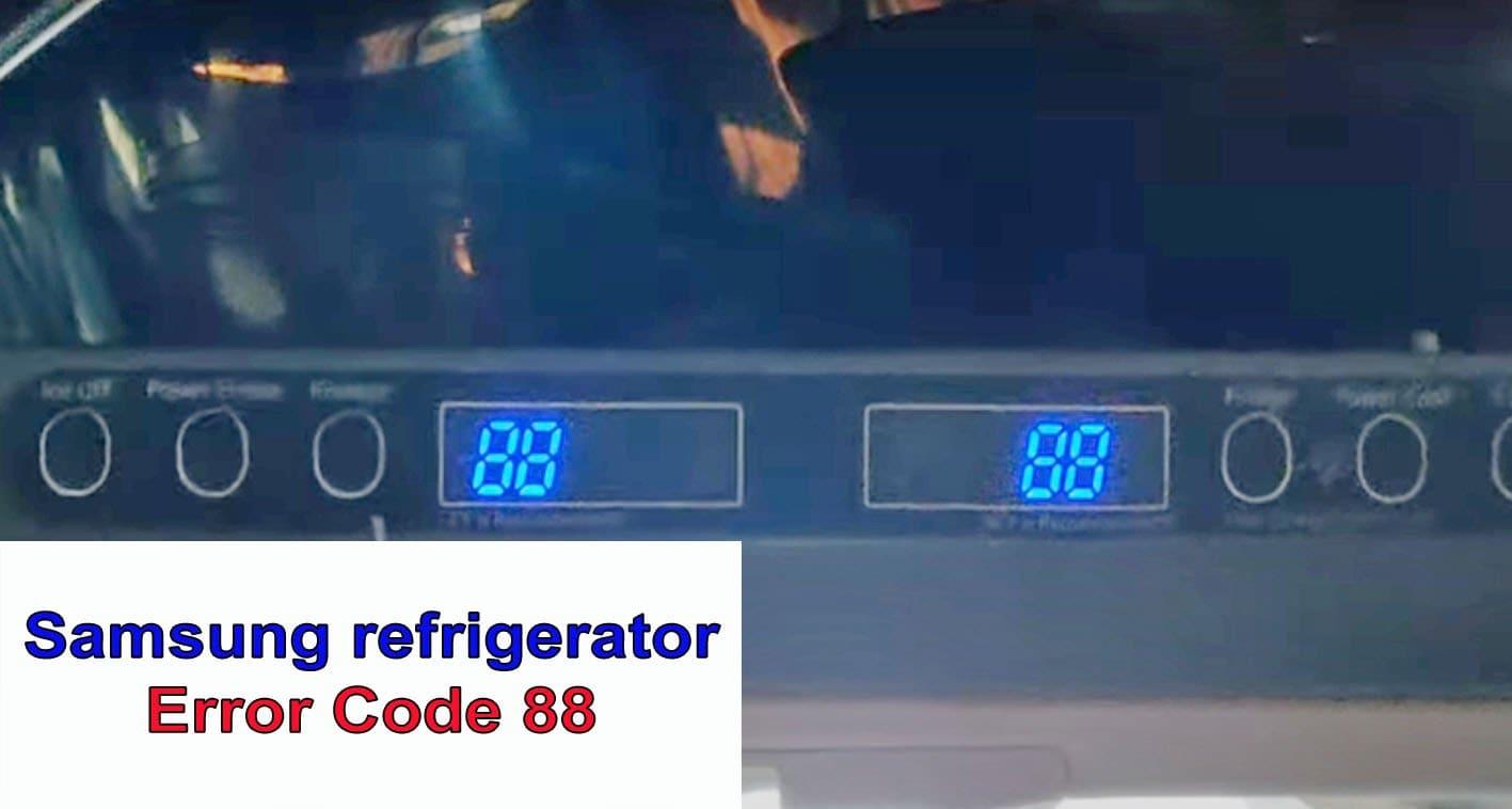 Samsung refrigerator error code 88