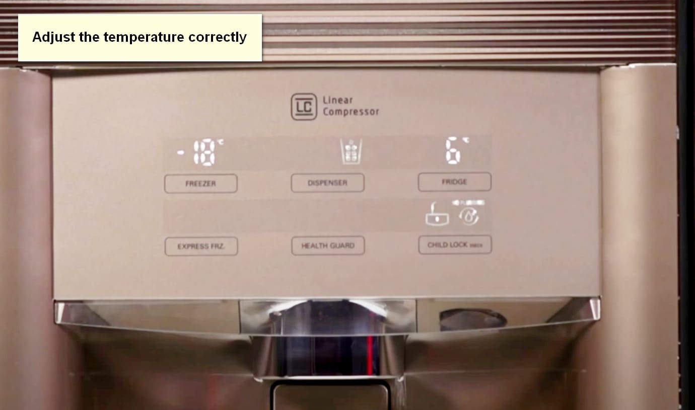 LG Refrigerator Not Making Ice Adjust the temperature correctly