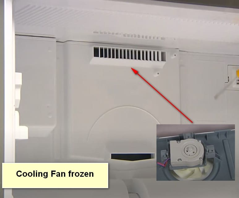 LG Refrigerator is Not Cooling Fan frozen