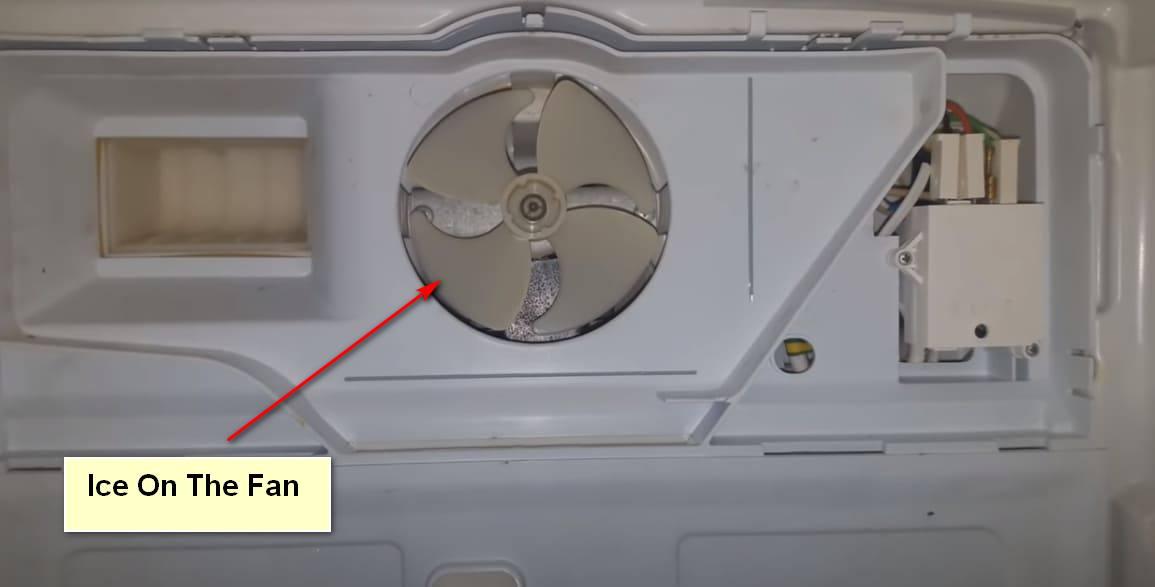 Loud Noise in The Refrigerator Ice On The Fan
