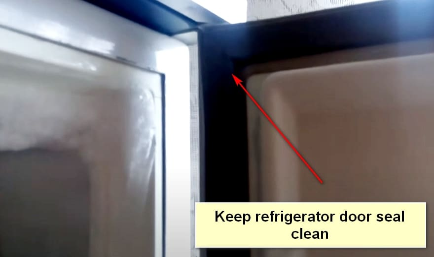 The Refrigerator Service Life Keep refrigerator door seal clean
