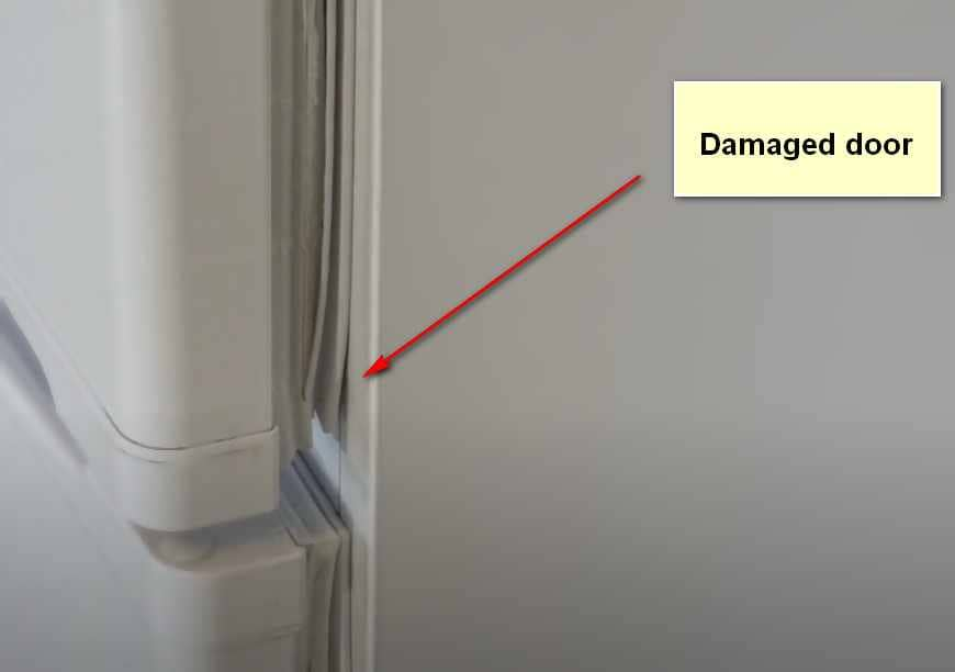 Why Samsung Refrigerator Is Not Cooling Damaged door
