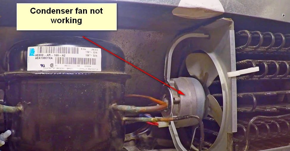Frigidaire Refrigerator Not Cooling Fan Not Working