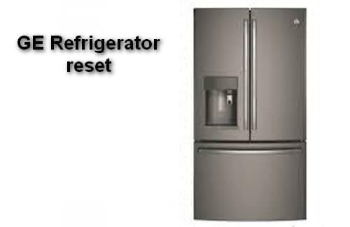 GE Refrigerator reset
