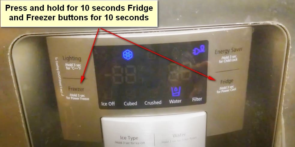 How to Reset a Samsung Refrigerator Reset After Power Outage