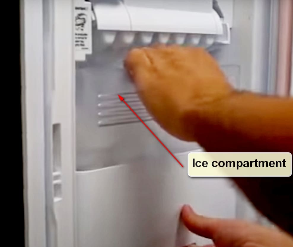 LG Ice maker Ice compartment